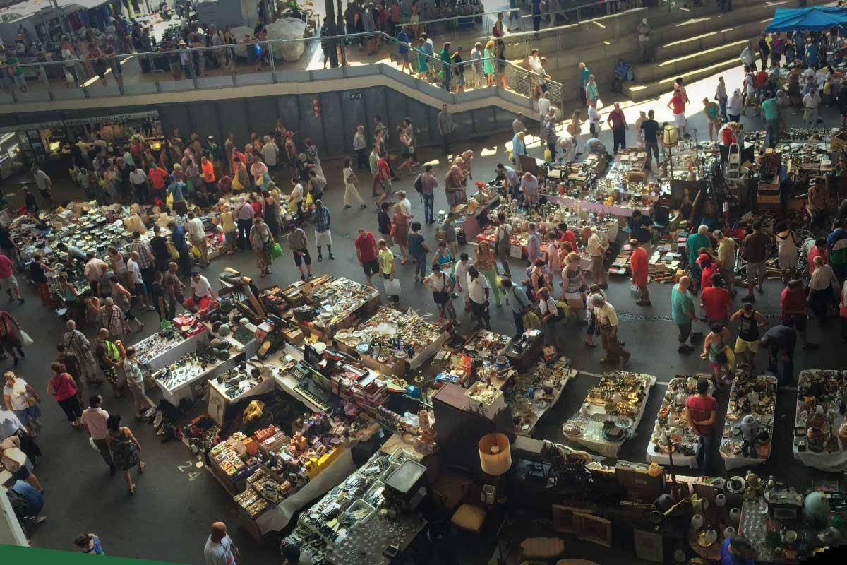 Markt als Wimmelbild: Mercat dels Encants